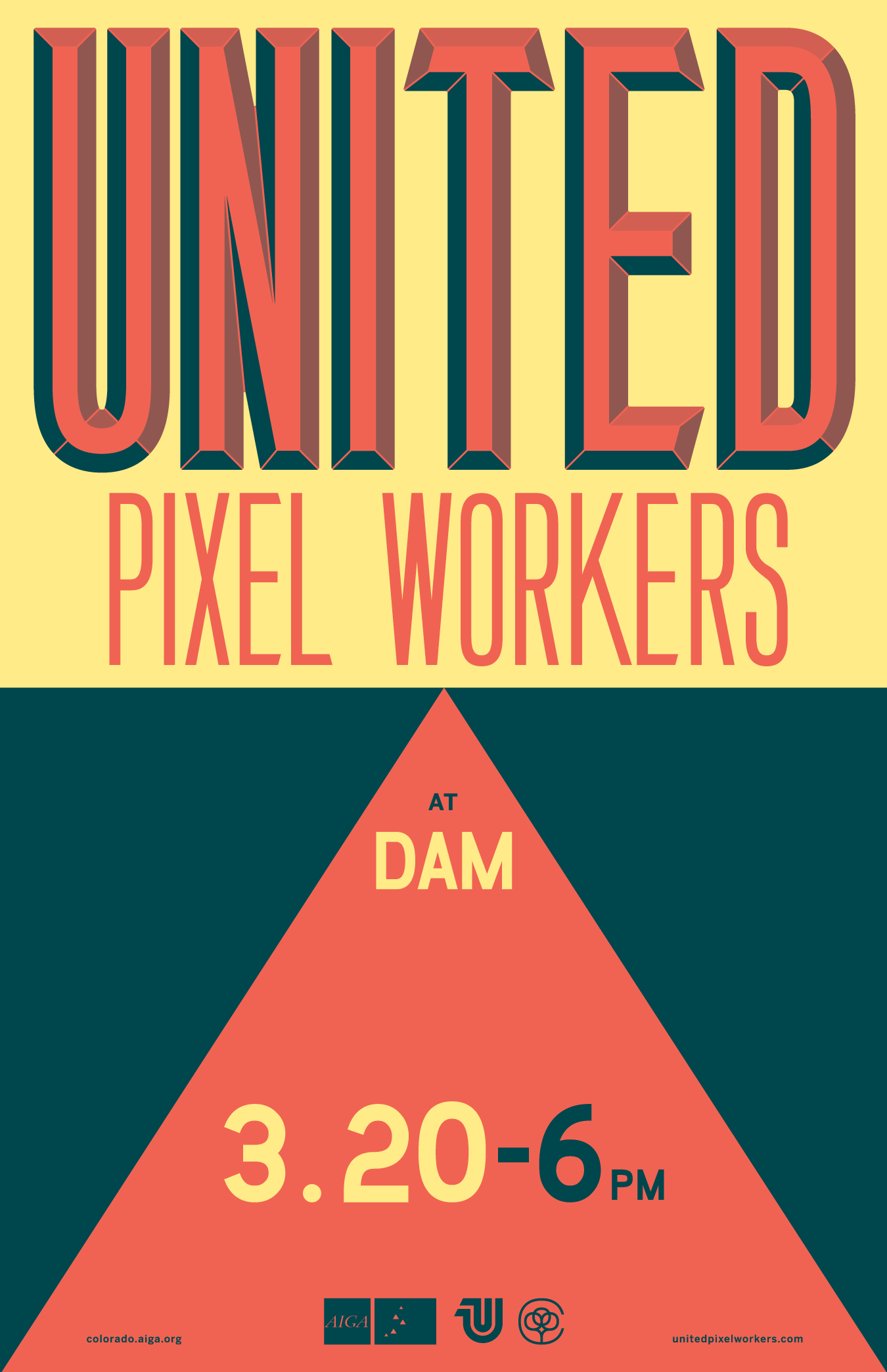 AIGA Colorado United Pixel Workers Poster