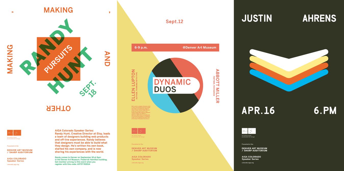 AIGA Colorado Speaker Series Posters