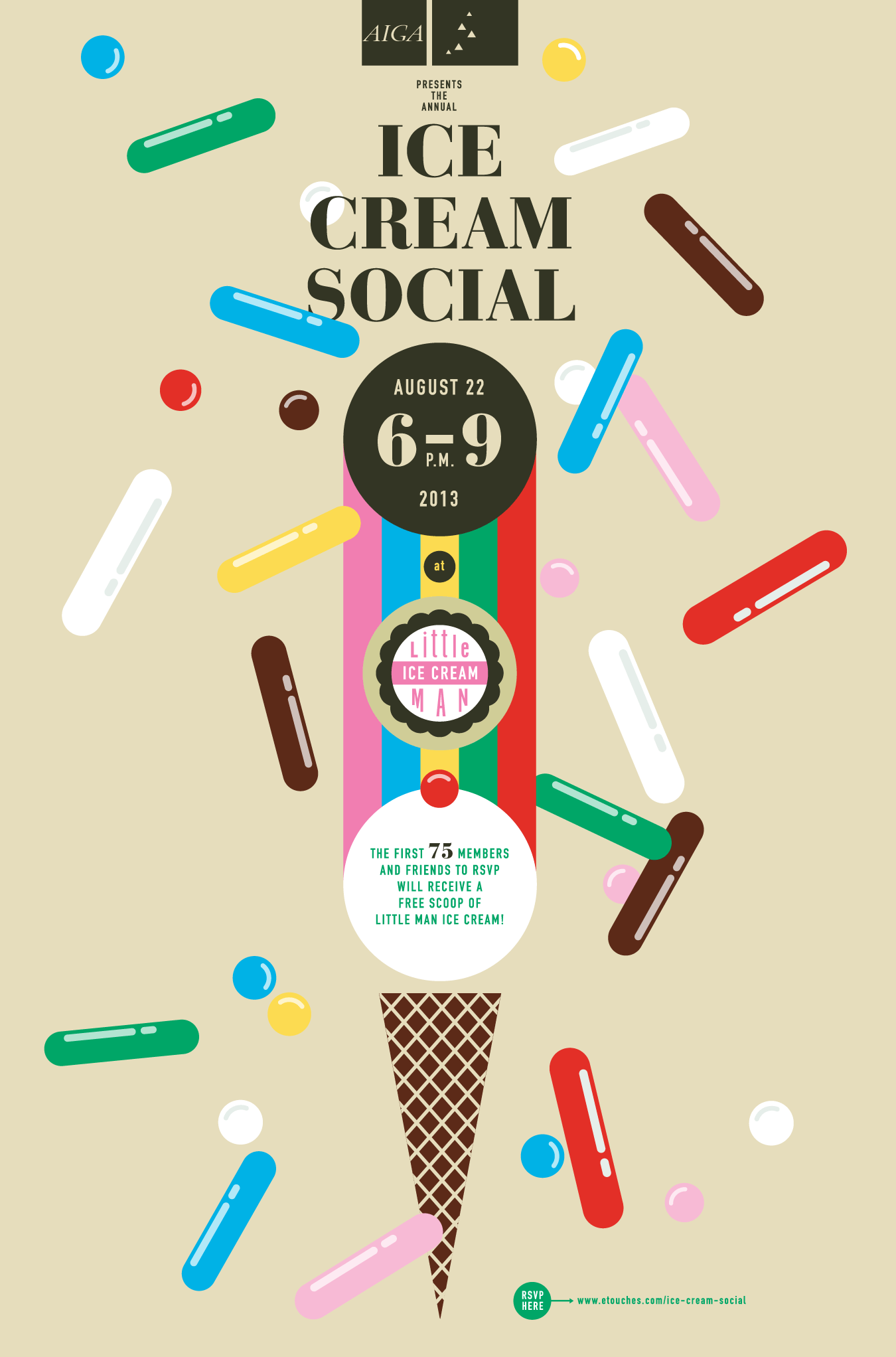 AIGA Colorado Ice Cream Social digital poster