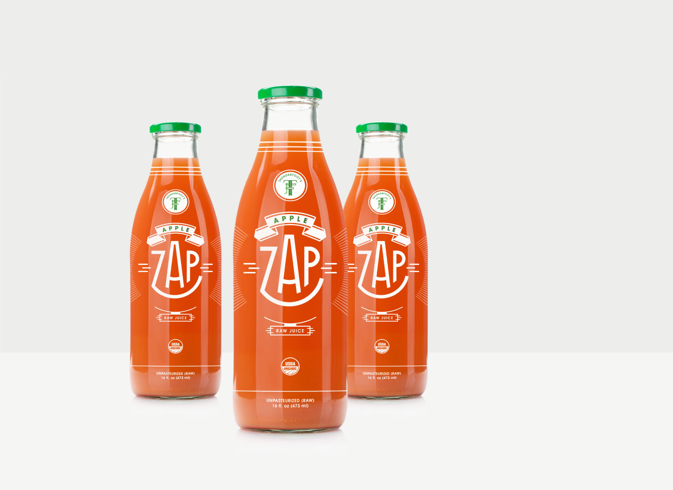 Apple Zap bottle design